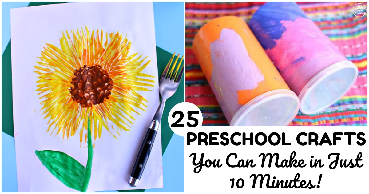 25 Super Easy Preschool Crafts for Kids