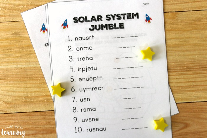 All About the Solar System Printable Science Unit for Kids