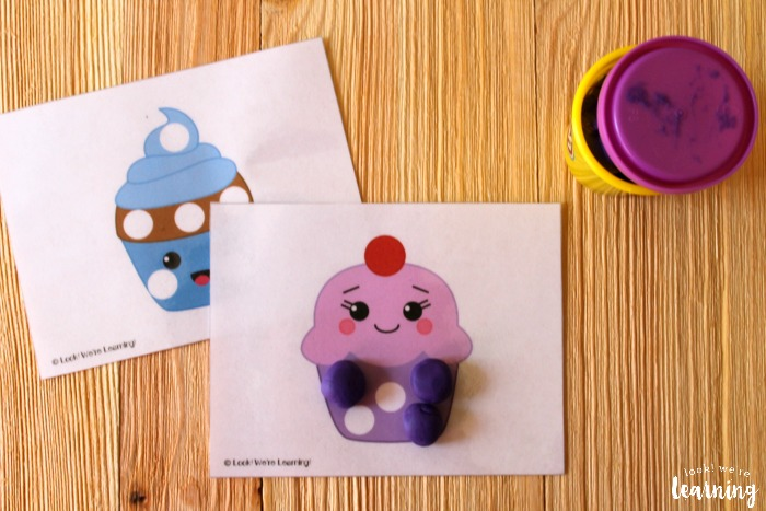 Cupcake Playdough Mats for Kids