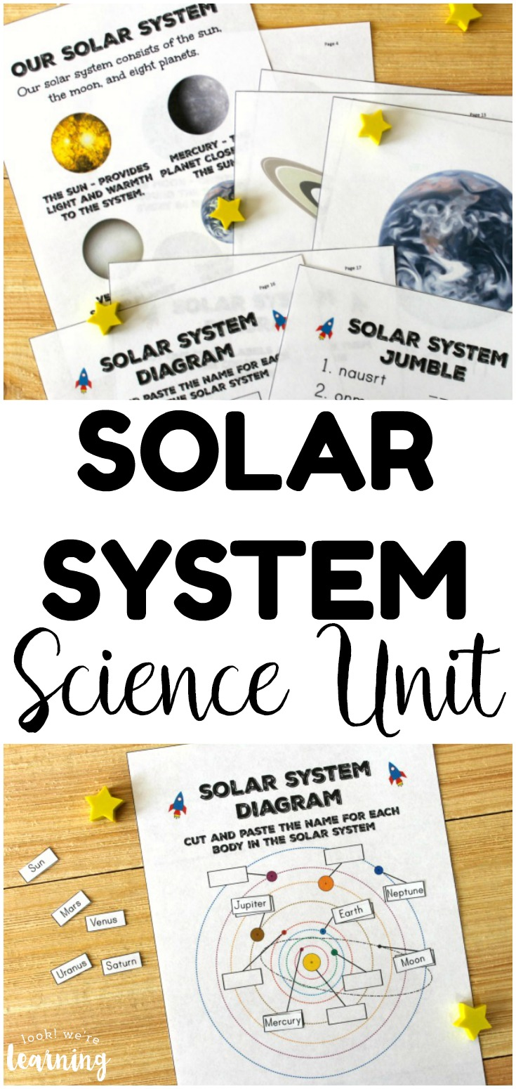 Learn about the members of the solar system with this printable All About the Solar System Unit for Kids! Such an awesome way to explore space with elementary ages!