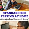 Need to give your homeschooled kids a standardized test? Learn how to do easy homeschool standardized testing at home!