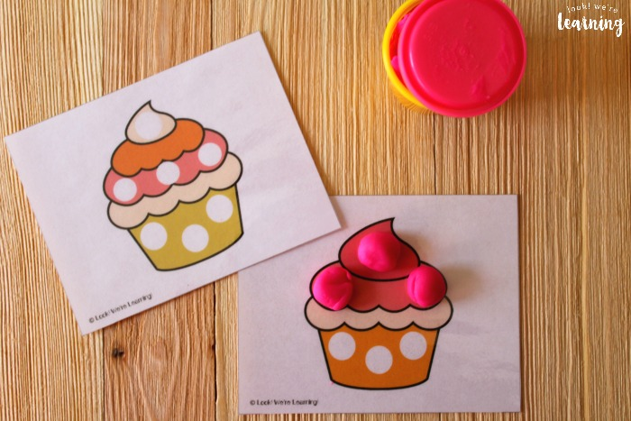 Preschool Cupcake Playdough Mats