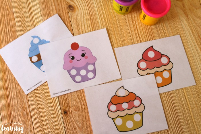 Printable Cupcake Playdough Mats for Kids