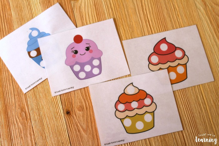 Printable Cupcake Playdough Mats