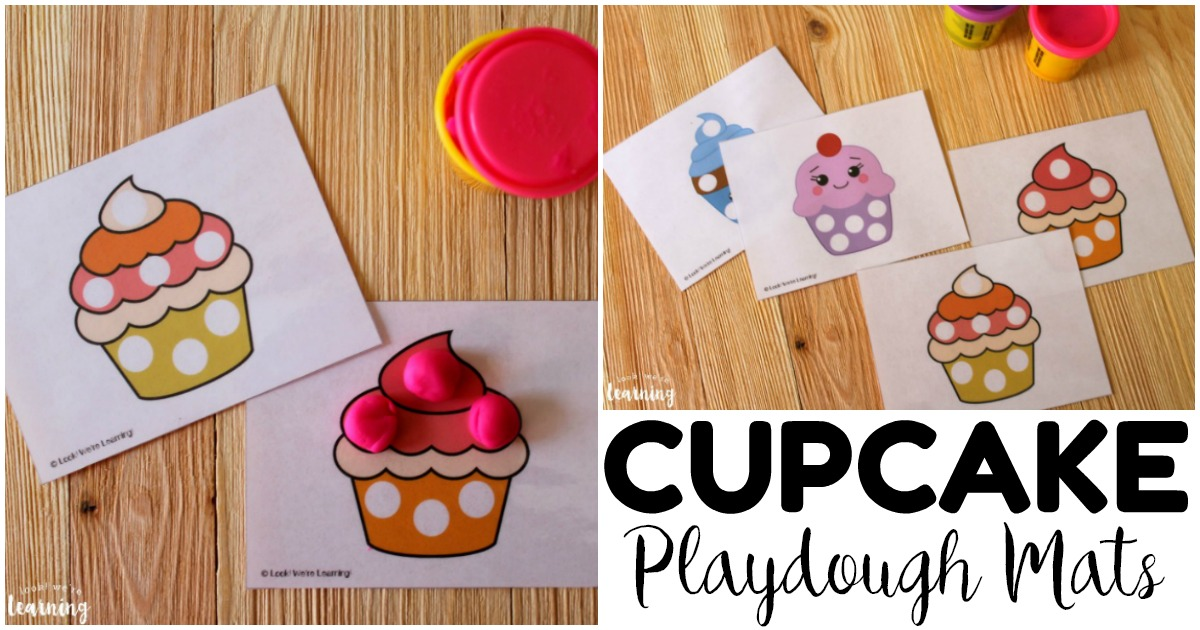 Printable Preschool Cupcake Playdough Mats