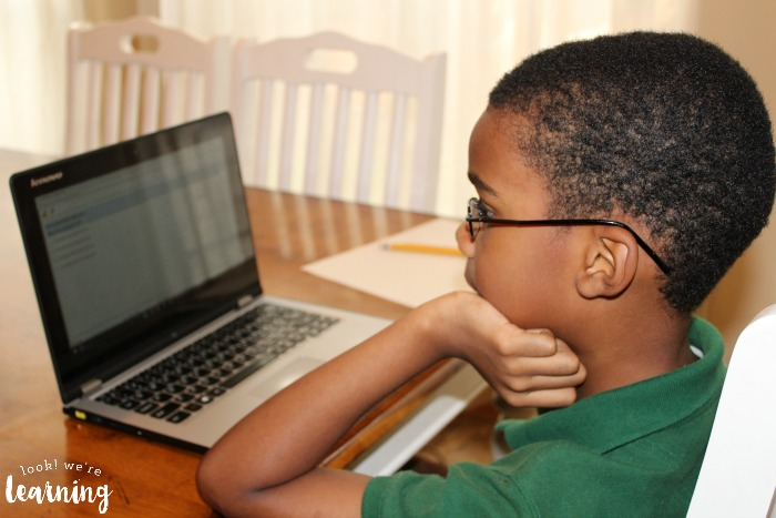 Taking a Homeschool Standardized Test on the Computer