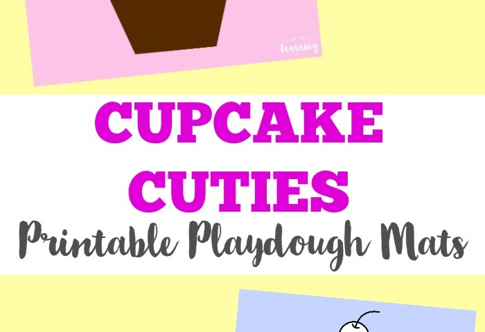 Preschool Playdough Mats: Cupcake Playdough Mats