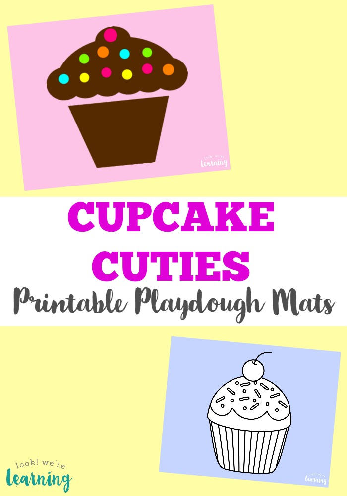 These cute cupcake playdough mats are so adorable for practicing fine motor skills!