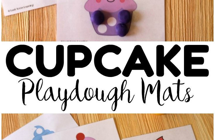 picture regarding Printable Floor Mats titled printable cupcake playdough mats Archives - Seem! Ended up