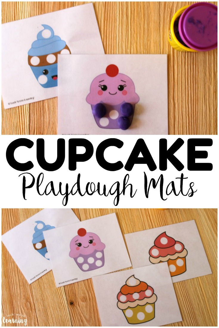 These printable cupcake playdough mats are perfect for building fine motor skills in preschoolers! Plus, they're adorable for a cupcake unit!