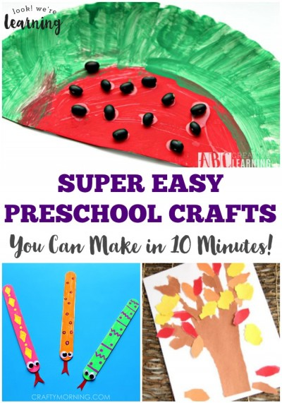 These super easy preschool crafts are so simple you can make them in just 10 minutes!
