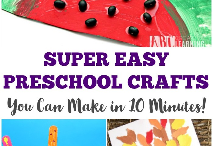 These super easy preschool crafts are so simple you can make them in
