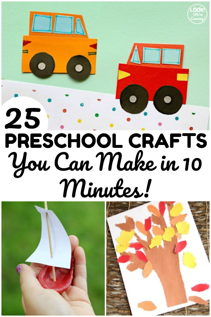 This list of 10 minute easy preschool crafts is perfect for a quick crafting session with little ones!