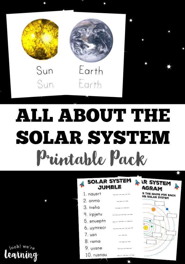 Solar System Printable Pack - Look! We\'re Learning!
