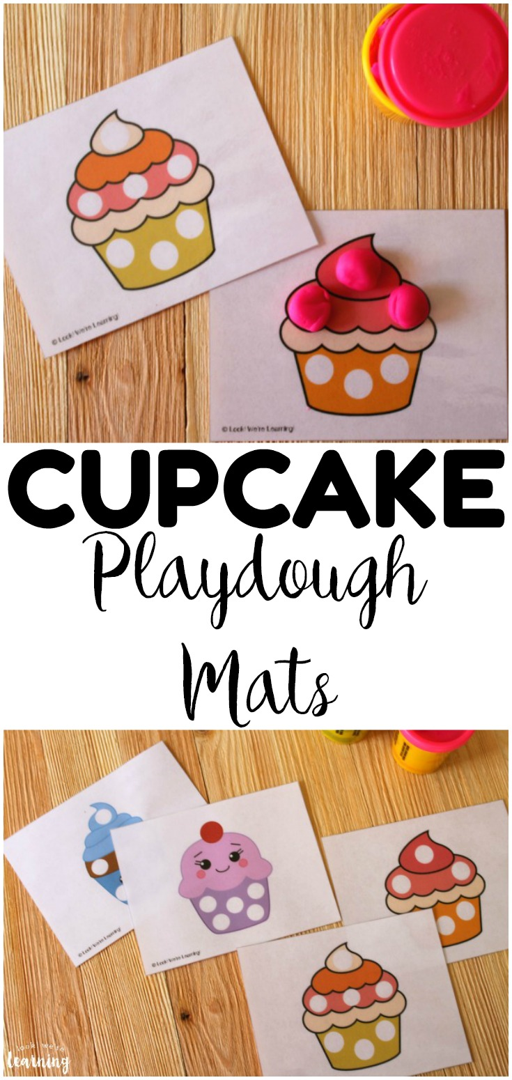 Working on fine motor skills with your little ones? These printable cupcake playdough mats are a perfect fine motor skill builder for young children!