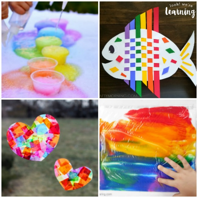 Beautiful and Easy Rainbow Crafts for Kids - Look! We're Learning!