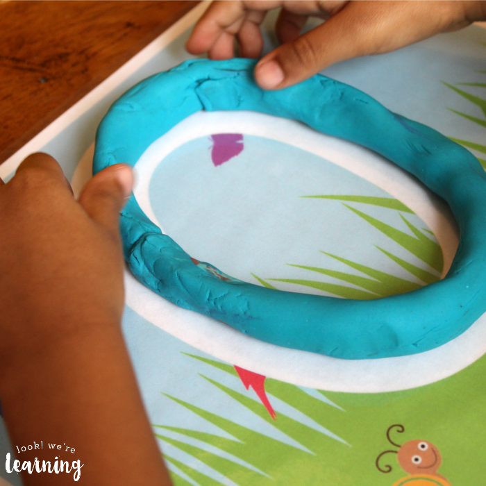 Birds and Bugs Playdough Mats for Toddlers