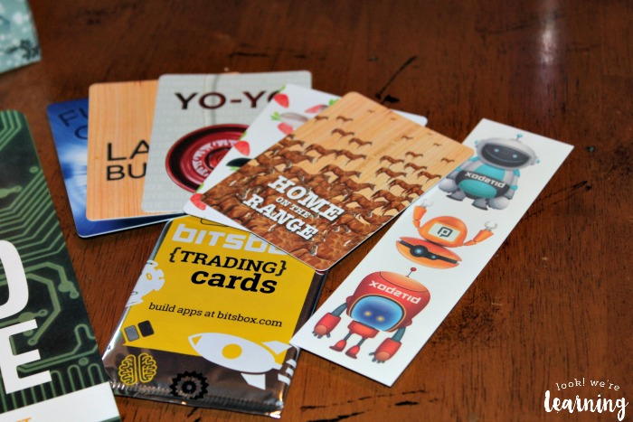 Bitsbox Subscription Box Trading Cards - Look! We're Learning!