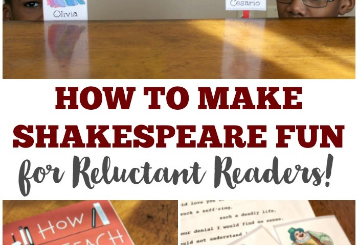 How to Make Shakespeare Fun for Kids – Even Reluctant Readers!