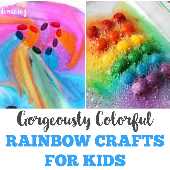 Gorgeously Colorful Rainbow Crafts for Kids - Look! We're Learning!