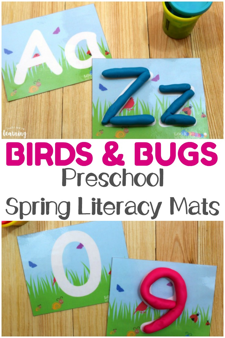 Help tots and preschoolers practice letter and number literacy with these spring literacy mats! These are wonderful for welcoming the warmer weather with little ones!