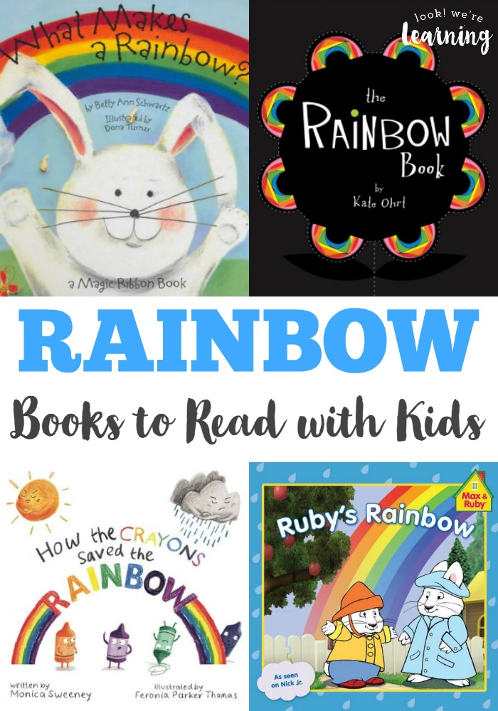 Learn about rainbows with these lovely rainbow books for kids!