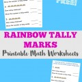 Pick up these free Rainbow Tally Marks worksheets - great math practice with fun spring worksheets for kids!