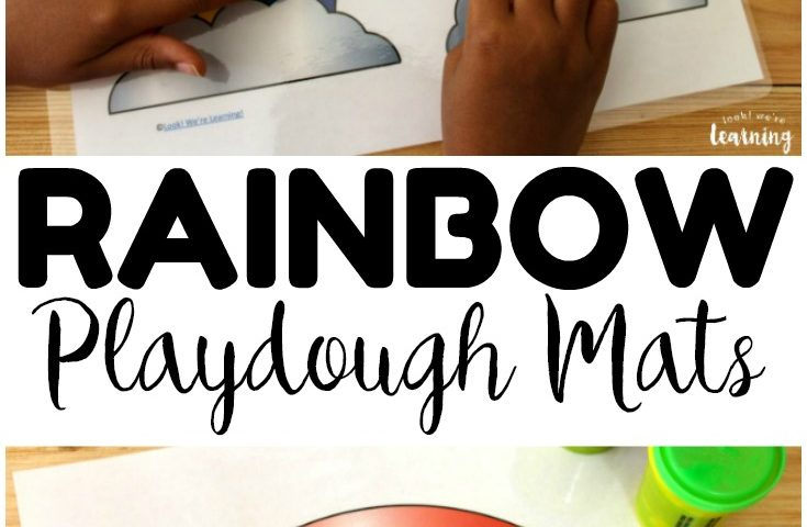 Preschool Playdough Mats: Rainbow Playdough Mats