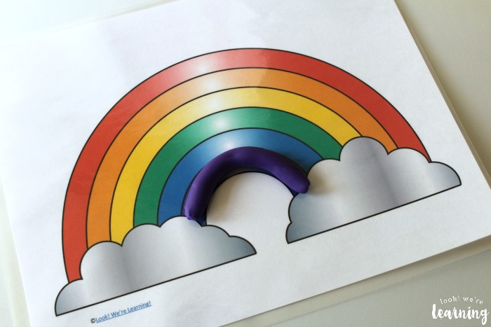 Playdough Rainbow Mats