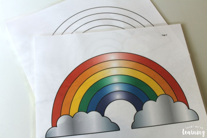 Printable Rainbow Playdough Mats