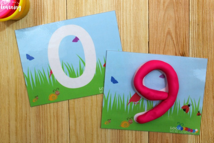 Printable Spring Number Playdough Mats for Kids