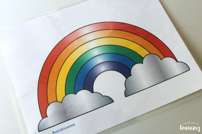 Rainbow Playdough Mats
