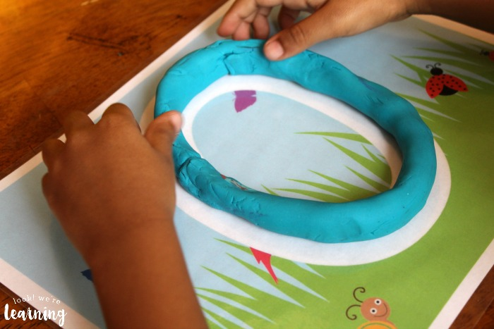 Shaping Numbers with Birds and Bugs Playdough Mats