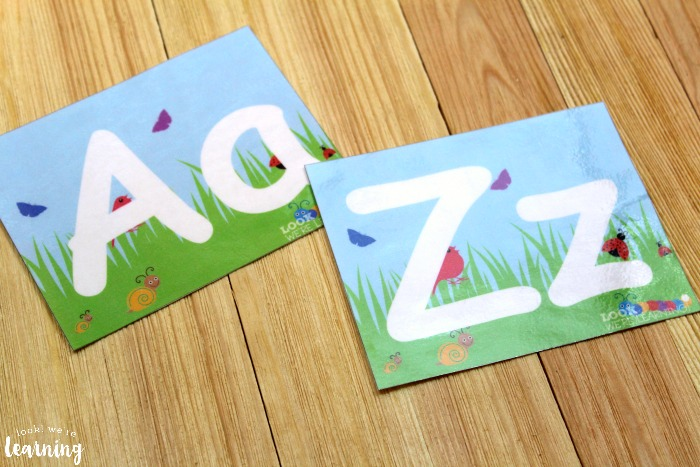 Spring Alphabet and Number Playdough Mats for Kids
