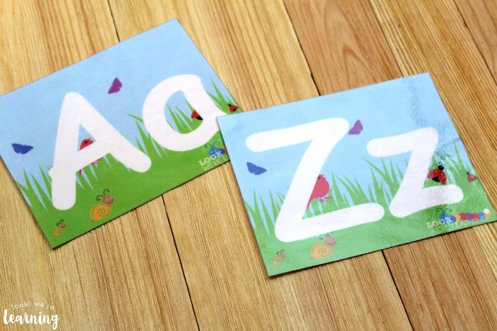 Spring Alphabet and Number Playdough Mats for Kids
