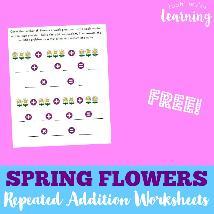 Flower Repeated Addition Worksheets Look Were Learning – Repeated Addition Worksheets