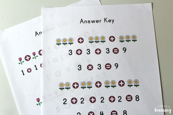 Flower Repeated Addition Worksheets - Look! We\'re Learning!