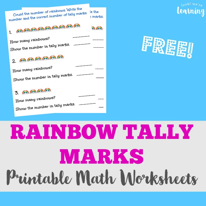 Free Rainbow Tally Marks Worksheets - Look! We\'re Learning!