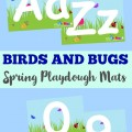 These fun Birds and Bugs Spring Playdough Mats are a nice way to get preschoolers to work on fine motor skills during a spring unit!