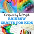 These gorgeously colorful rainbow crafts for kids are a wonderful way to add art to a spring unit study!