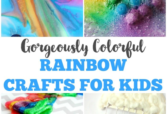 Gorgeously Colorful Rainbow Crafts for Kids