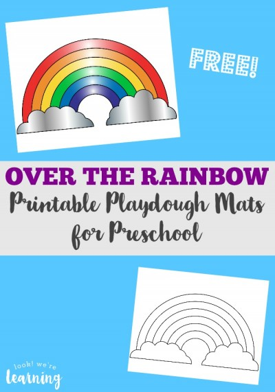 This free preschool playdough mats rainbow pack is a super spring activity for PreK!