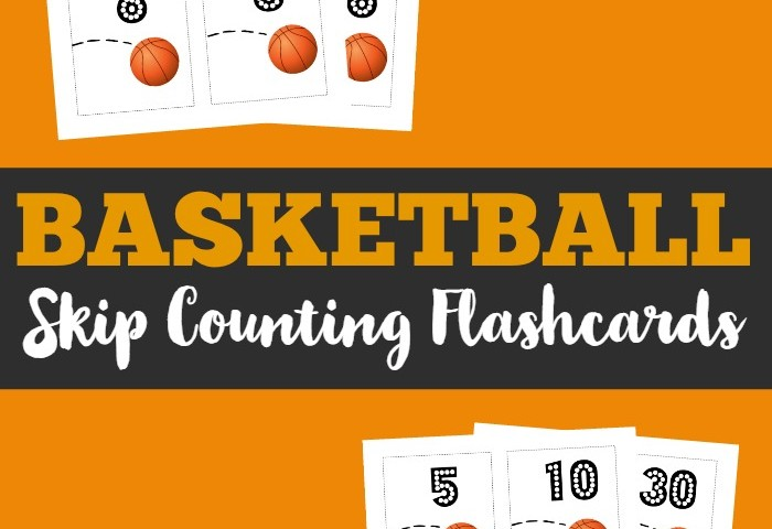 Basketball Free Skip Counting Flashcards