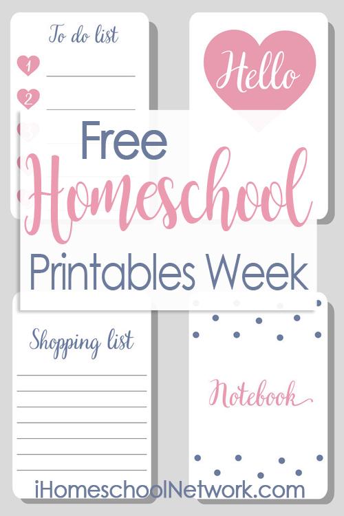 iHomeschool Network Free Homeschool Printables Linkup