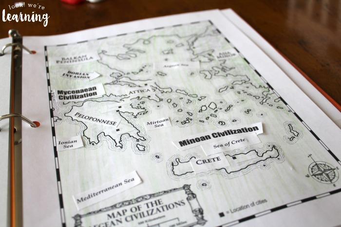 Ancient Greece Unit Study Aegean Civilization Map