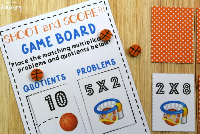 Basketball Themed Printable Multiplication Game