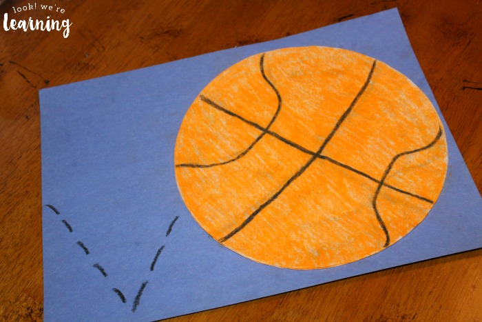 Bouncing Basketball Coffee Filter Craft