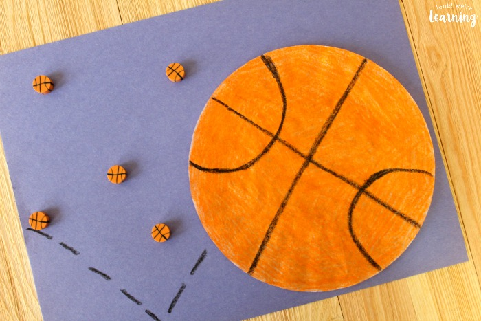 Coffee Filter Basketball Craft Kids Can Make