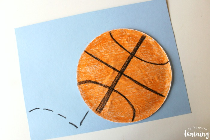 Coffee Filter Basketball Craft for Kids