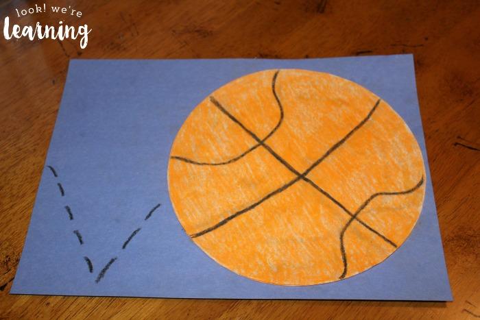 Coffee Filter Basketball Craft